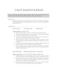 Audit Director Sle Resume by Vijay Raghavendar Cv Audit