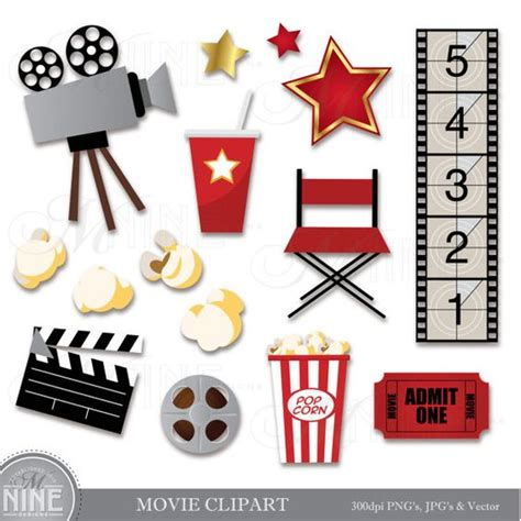 Cute Movie Themes | movie clip art movie clipart download movie party theater