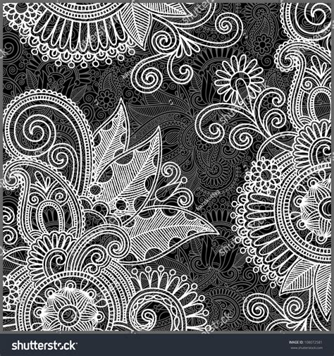 black and white patterns easy to draw hand draw ornate black white floral stock illustration