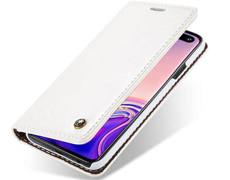 Samsung Galaxy S10 Wallet by Caseme Samsung Galaxy S10 Plus Wallet Stand Magnetic White