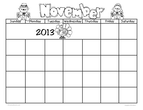 fillable calendar template all blank fill in calendar 2013 search results