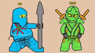 lego ninjago jay lloyd coloring fun coloring activity kids toddlers amp children