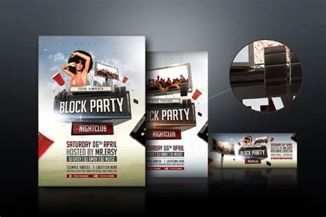 76 Party Flyer Exles Psd Ai Eps Vector Block Flyer Template Summer
