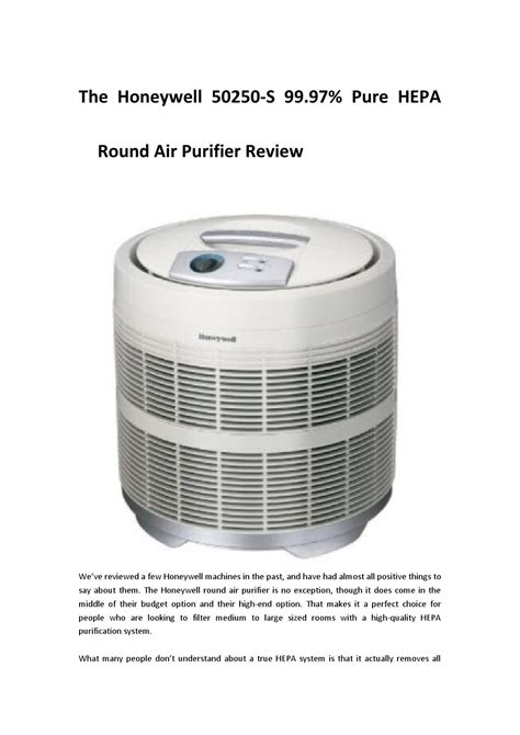the honeywell 50250 s 99 97 hepa air purifier review by brucematt issuu