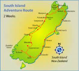 map of south island regional political map of new zealand