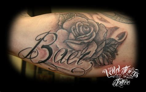 name with rose by wildthingstattoo on deviantart