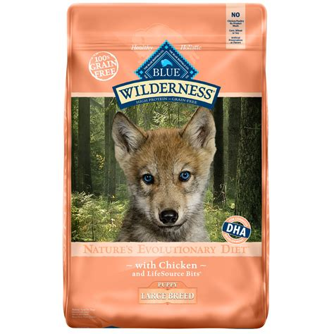 blue buffalo large breed puppy blue buffalo wilderness chicken large breed puppy food petco