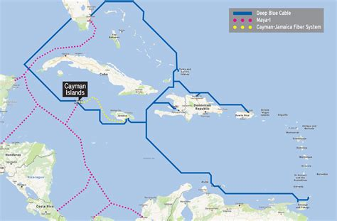 undersea cable map cayman could benefit from regional undersea fiber optic