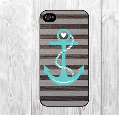 Iphone 4 4s Huf Bape Blue Pattern Hardcase cool chervon stripes with blue nautical anchor pattern