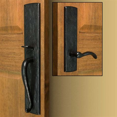 door hardware bullock solid bronze entrance set with lever handle hardware