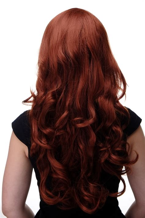 Hair Cliphairclipextention Smoothing 60 65cm wig copper wavy fringe smooth 285 130 25 5