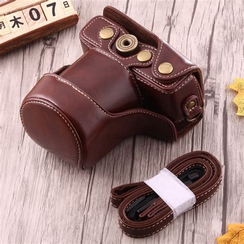New Arrival Leather For Canon Eos M10 Kit 15 45mm pu leather bag with for canon