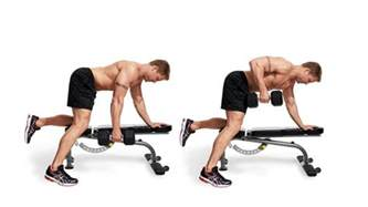 Weight Training Bench Dumbbell Row Men S Fitness