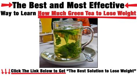 How Much Do You Lose On A Tea Detox by How Much Green Tea To Lose Weight