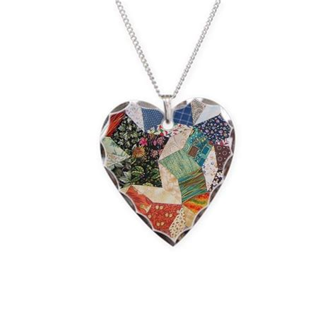 Tumbling Blocks Patchwork - tumbling block patchwork quilt necklace by nansphotoart