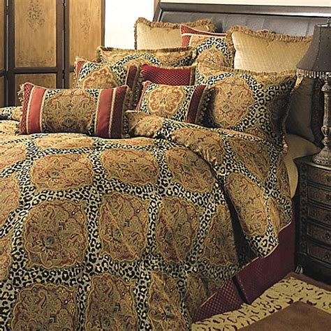 red brown and gold comforter sets sherry kline regal comforter set in red gold bed bath