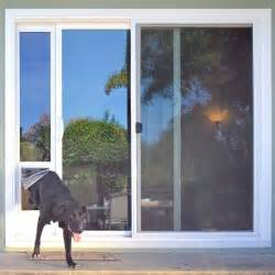 Patio Door With Doggie Door Ideal Fast Fit Patio Panel Pet Door Sliding Glass Door