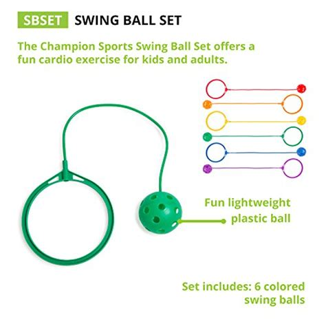 swing ball for kids chion sports skip ball set six jumping toy assorted