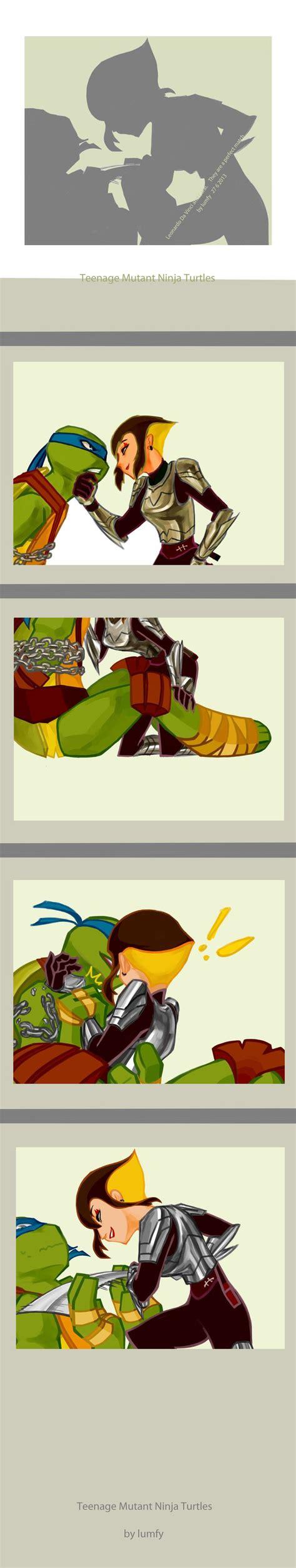 teenage mutant ninja turtles table and teenage mutant ninja turtles leo and karai kiss