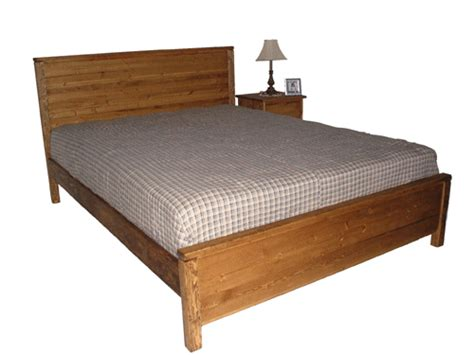 Platform Bed With Solid Base No Slats Classic Wood Bed Frame With Drawers