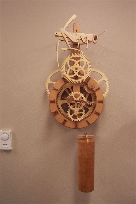 grasshopper clock  fathers woodworking projects