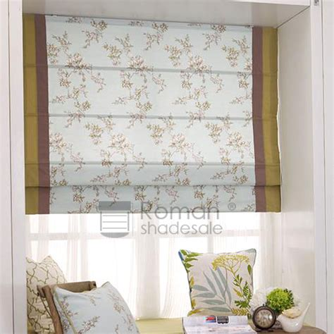 patterned fabric roman shades elegant floral pattern flat shaped roman shade blind