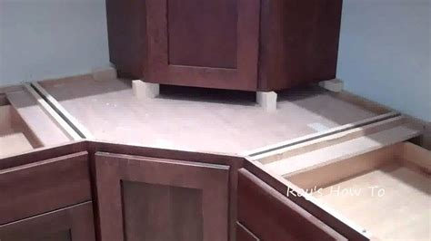 Kitchen Cabinet Appliance Garage by Installing Kitchen Cabinets With Appliance Garage Youtube