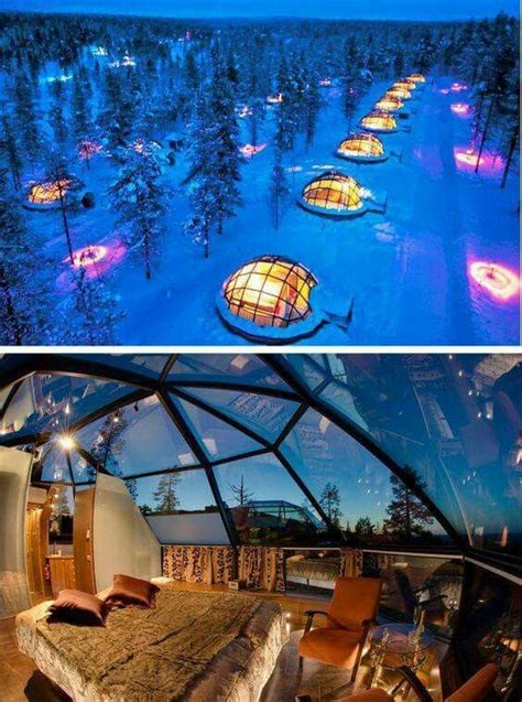 northern lights iceland igloo finland sleeping in glass igloos to see the stars and the