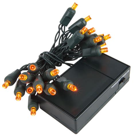 battery operated lights 20 amber battery operated 5mm led christmas lights green wire