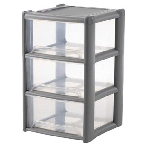 3 Drawer Storage Tower buy wham 3 drawer storage tower grey from our towers range tesco