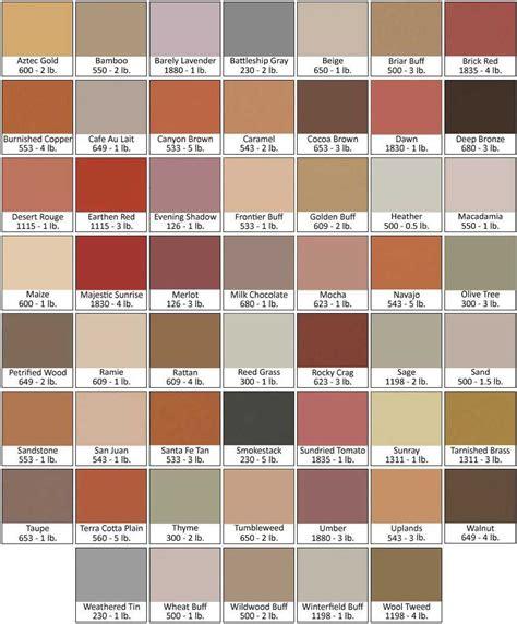 direct colors concrete pigment directcolors colour chart