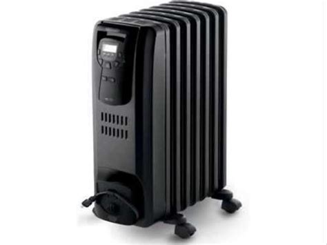 feature comforts oil filled radiator heater delonghi oil filled radiator heater black 1500w youtube