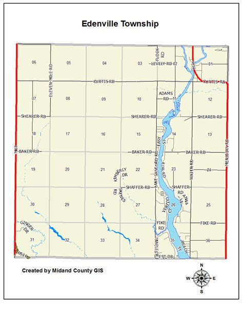 Midland County Records County Of Midland Michigan Gt Equalization Gt Tax Maps Gt Edenville Township