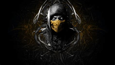 mortal kombat x wallpaper hd android scorpio mortal kombat x wallpaper android wallpaper