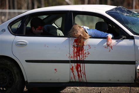 car crash mock car crash to combat and driving carpe diem