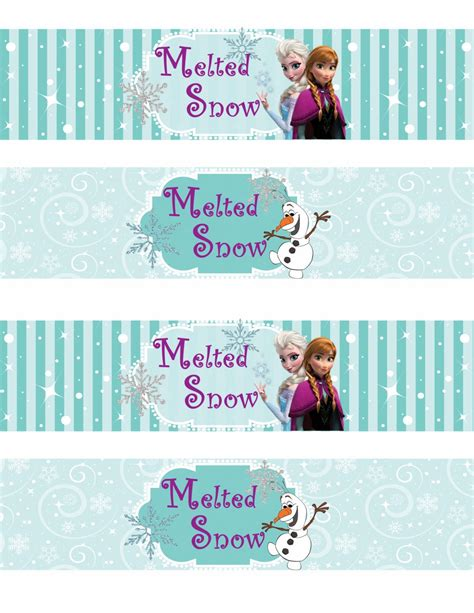 Printable Frozen Labels | the gallery for gt free frozen printables