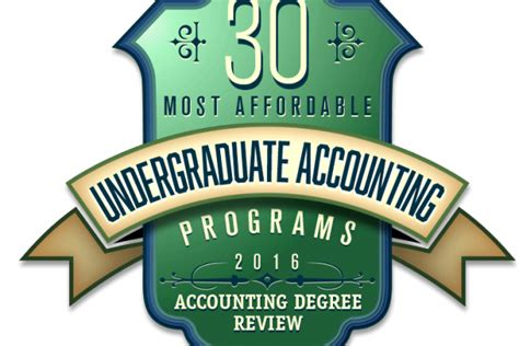 Cheapest Mba Programs In Nj by Accounting Degree Review Top 10 Undergraduate Accounting