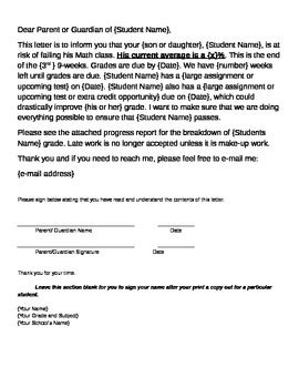Parent Letter Student Failing failure letter to parents by jaime watson teachers pay
