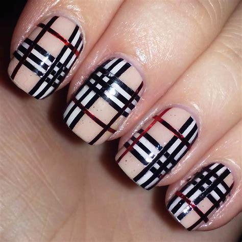 nail art tartan tutorial tartan nail art cos 232 e consigli fai da te