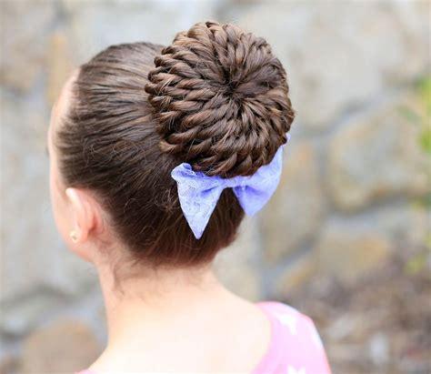 pictures on bun type hairstyles cute girl hairstyles rope twist pinwheel bun tutorial video cute girls