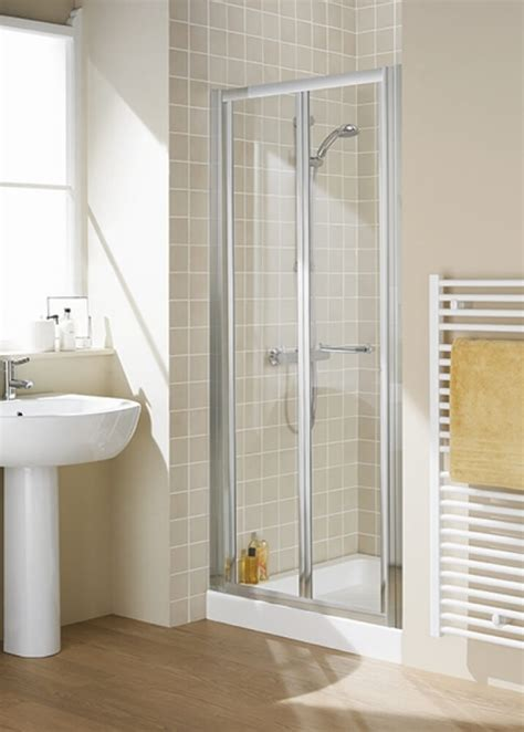 Lakes Bathrooms Classic Silver 700mm Bi Fold Shower Door Bi Fold Shower Doors 700mm