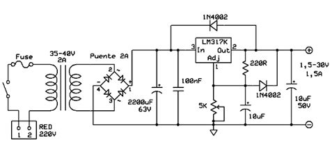 alimentadores ineal fuente de alimentacion diagrama logico de fuente con lm317