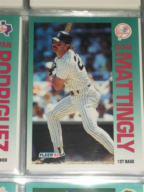 Don Mattingly Cards by Don Mattingly 92 Fleer Baseball Card