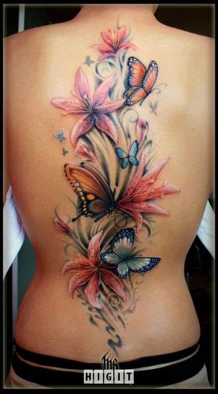 tattoo butterfly and flowers 15 latest 3d butterfly tattoo designs you may love