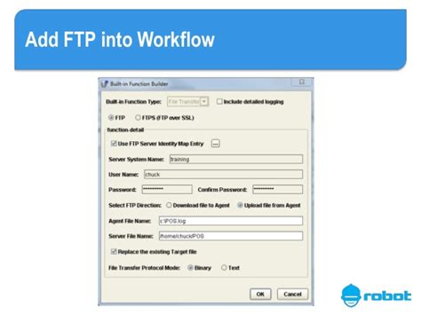 ftp workflow execute sequel scripts and reports automatically with