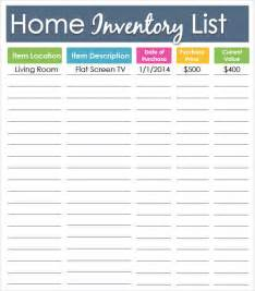 House Contents List Template Inventory List Template 7 Download In Pdf Word Excel Psd
