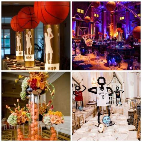 sports theme centerpieces centerpiece ideas for a basketball themed bar mitzvah barmitzvah bar bat mitzvah themes