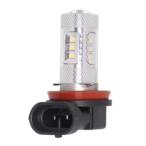 h11 le h11 led bulb w focusing lens 15 smd led daytime running