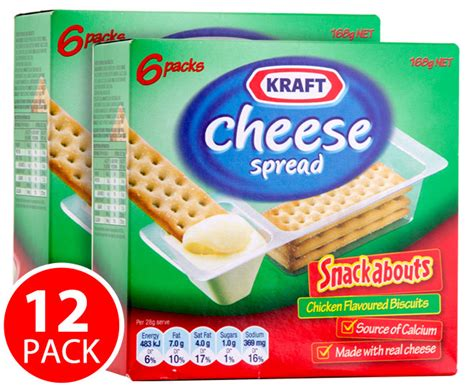 Snackabouts Cheese Spread 2x kraft cheese spread chicken snackabouts 168g catch au