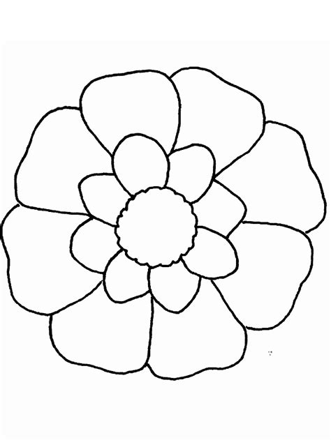 easy coloring pages flowers simple flower coloring page coloring home